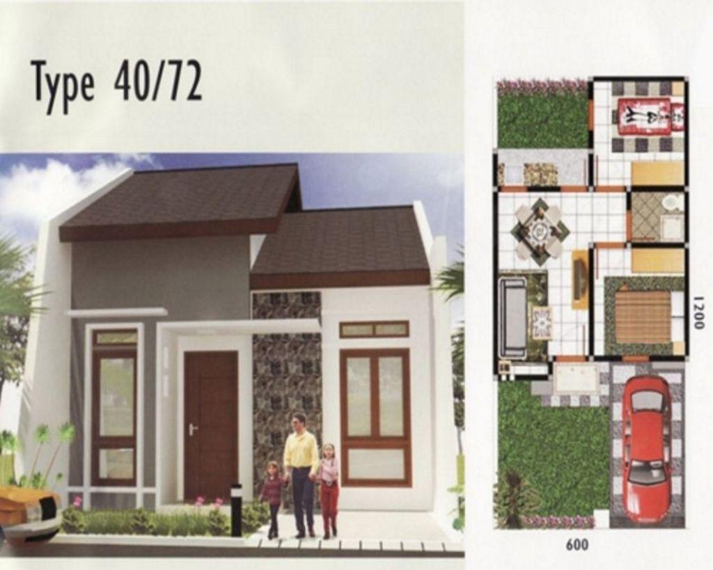 Contoh Denah Rumah Type 40 Terkini