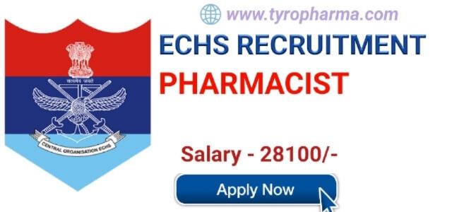 ECHS Pharmacist Recruitment 2019- Pharmacist job at Ex-Servicemen Contributory Health Scheme Devlali
