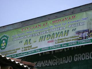 Hubungi Kami Pondok Pesantren aL-Hidayah Selo