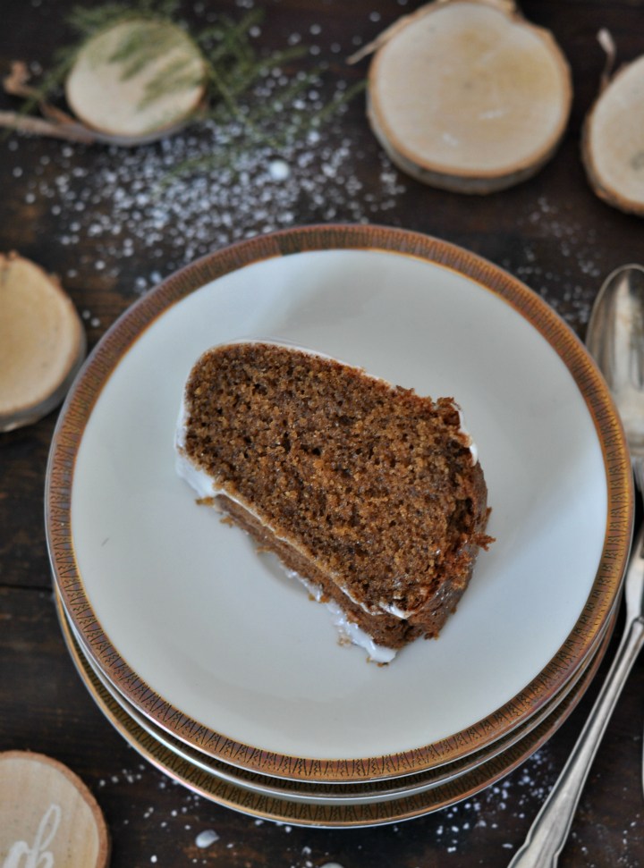 moist Irish Coffee Cake with whisky glaze, gluten free