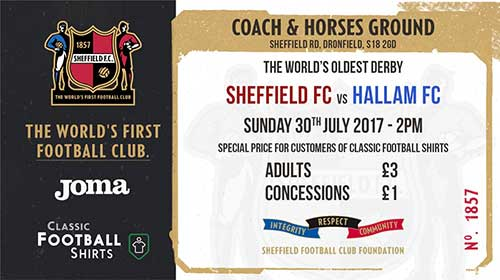 Football's Oldest Derby - Sheffield FC v Hallam.