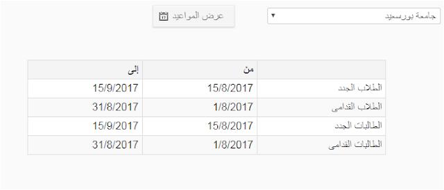 مواعيد التقدم للمدينه الجامعية بجامعة بورسعيد للعام 2017/2018 نظام الزهراء الجامعى