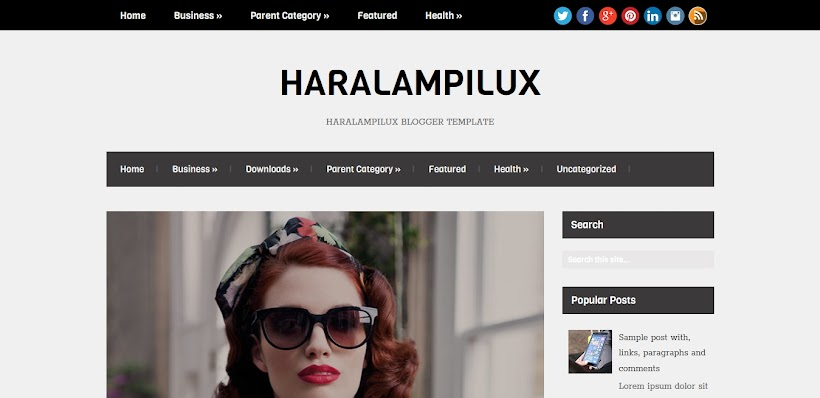 HaralampiLux Free Blogger Template