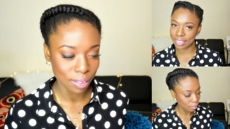 Natural Hair Protective Style 2 Sides Braids Cornrow