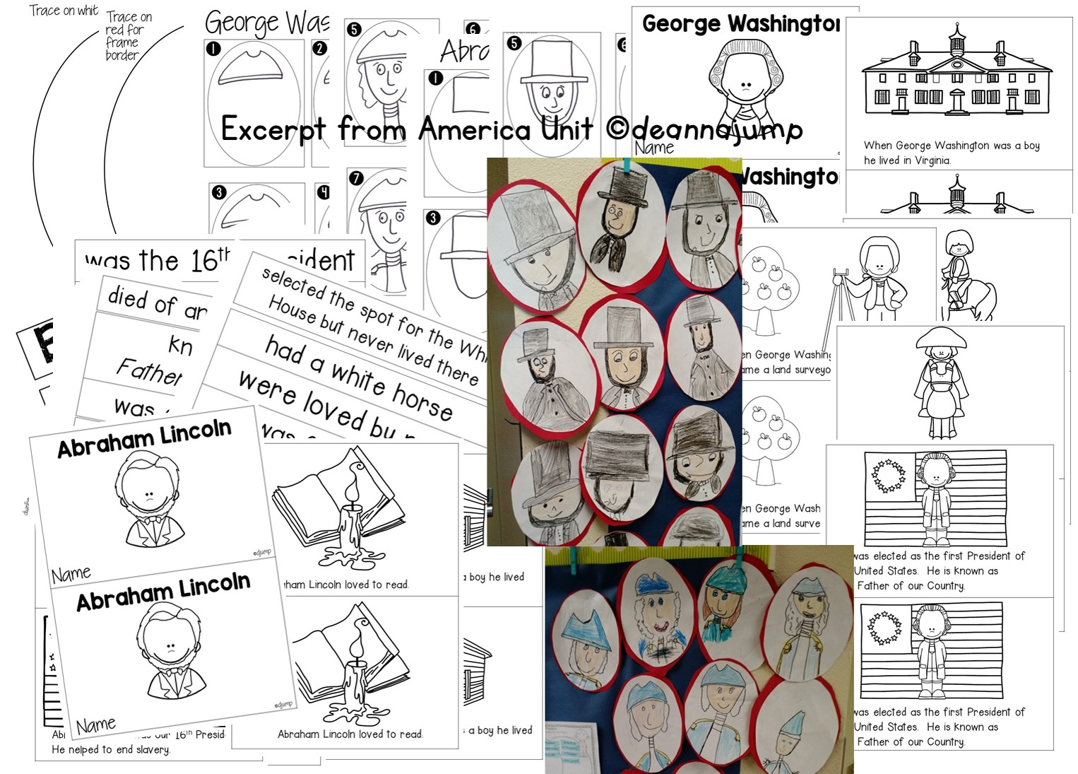 American symbols for kids in kindergarten and first grade [ 1095 x 1526 Pixel ]