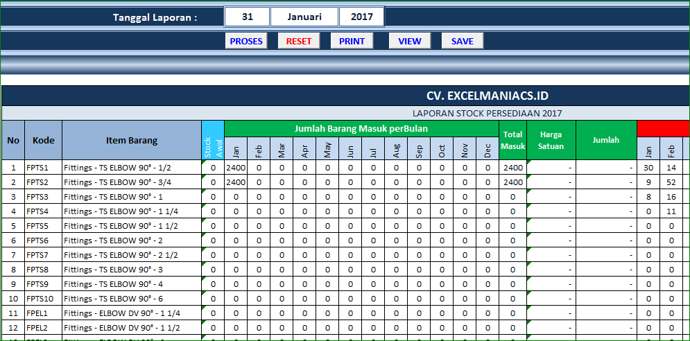 Contoh Laporan Stok Barang Harian Excel Kumpulan Contoh Laporan