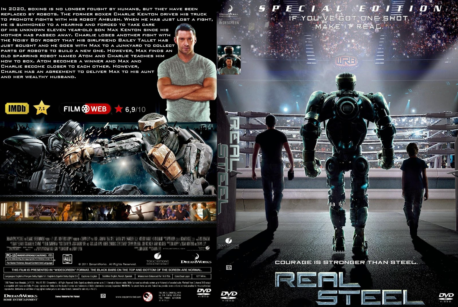 Capa DVD Real Steel Special Edition
