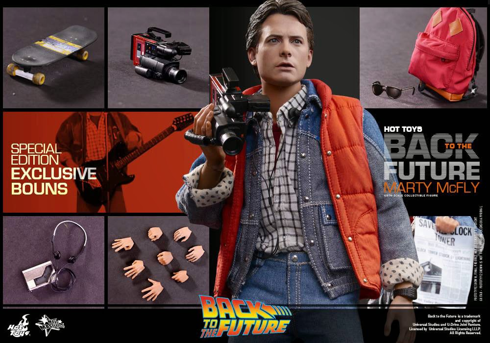 back to the future 1 6 marty mcfly from hot toys. Black Bedroom Furniture Sets. Home Design Ideas