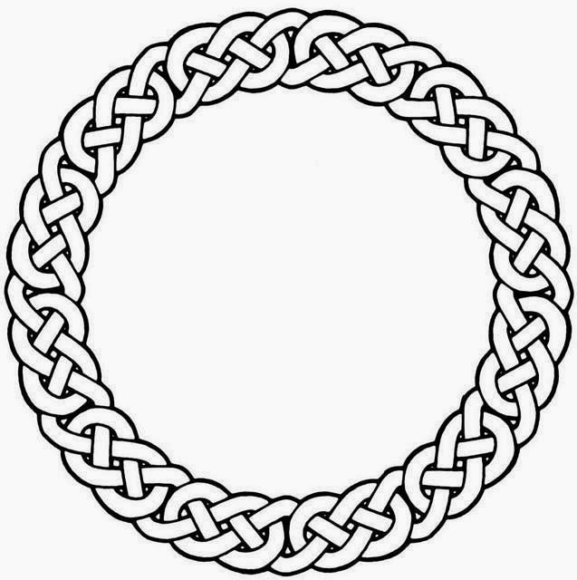 Celtic wreath knot circle tattoo stencil