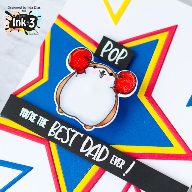 Best Dad Ever | Action Wobbles Card for Ink On 3 by ilovedoingallthingscrafty.com