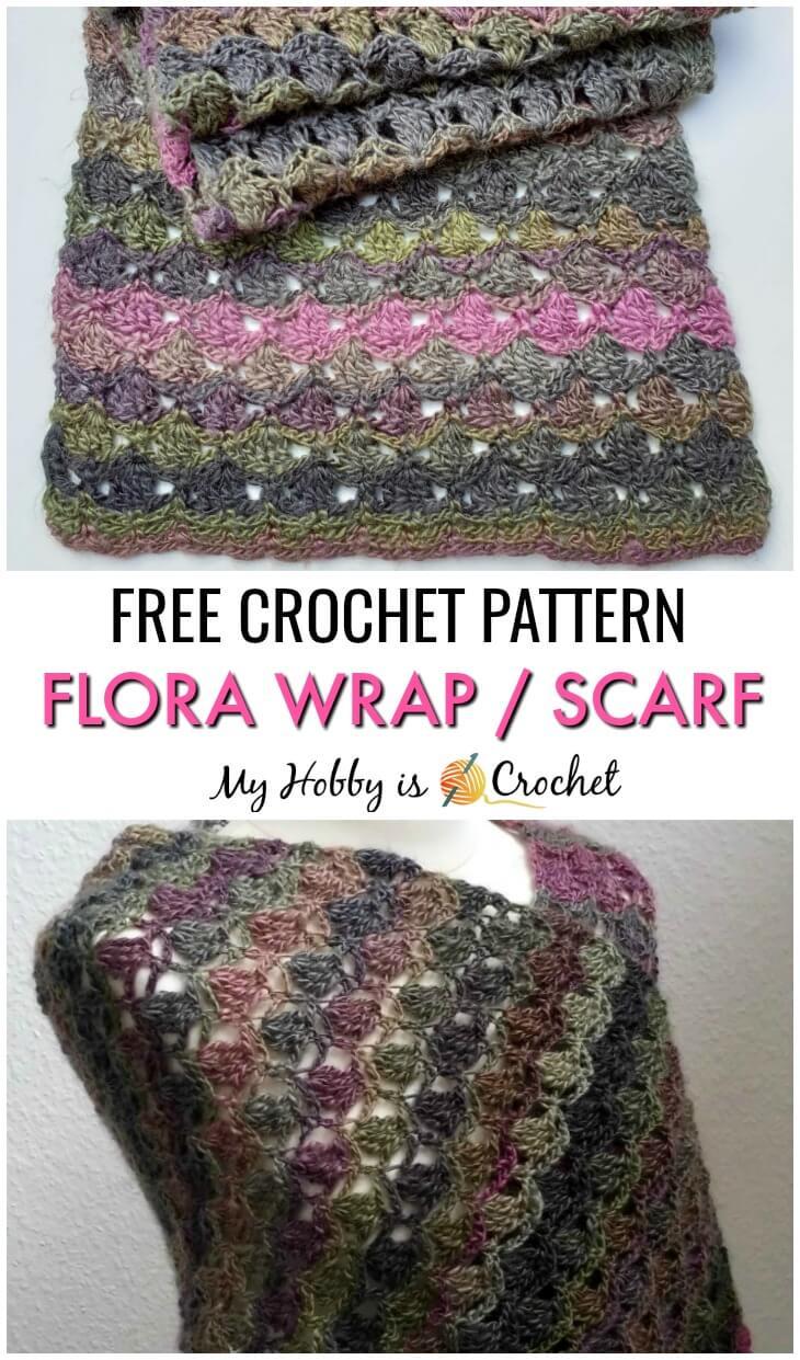 Flora Wrap / Shawl / Scarf - Free Crochet Pattern