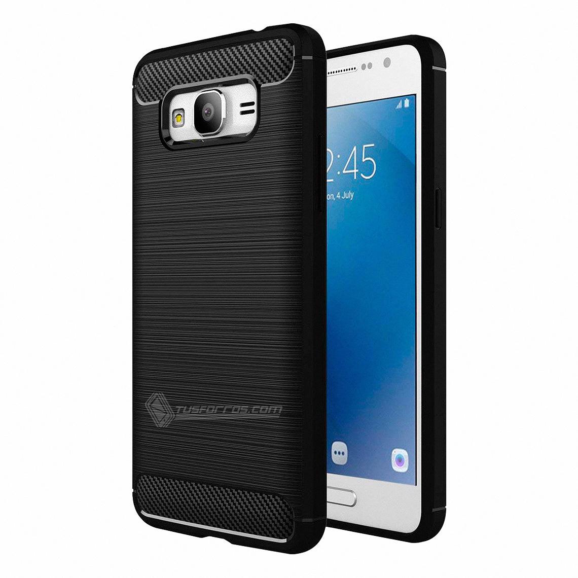 Samsung Galaxy J2 Prime Forro Fibra de Carbono Anti-Shock