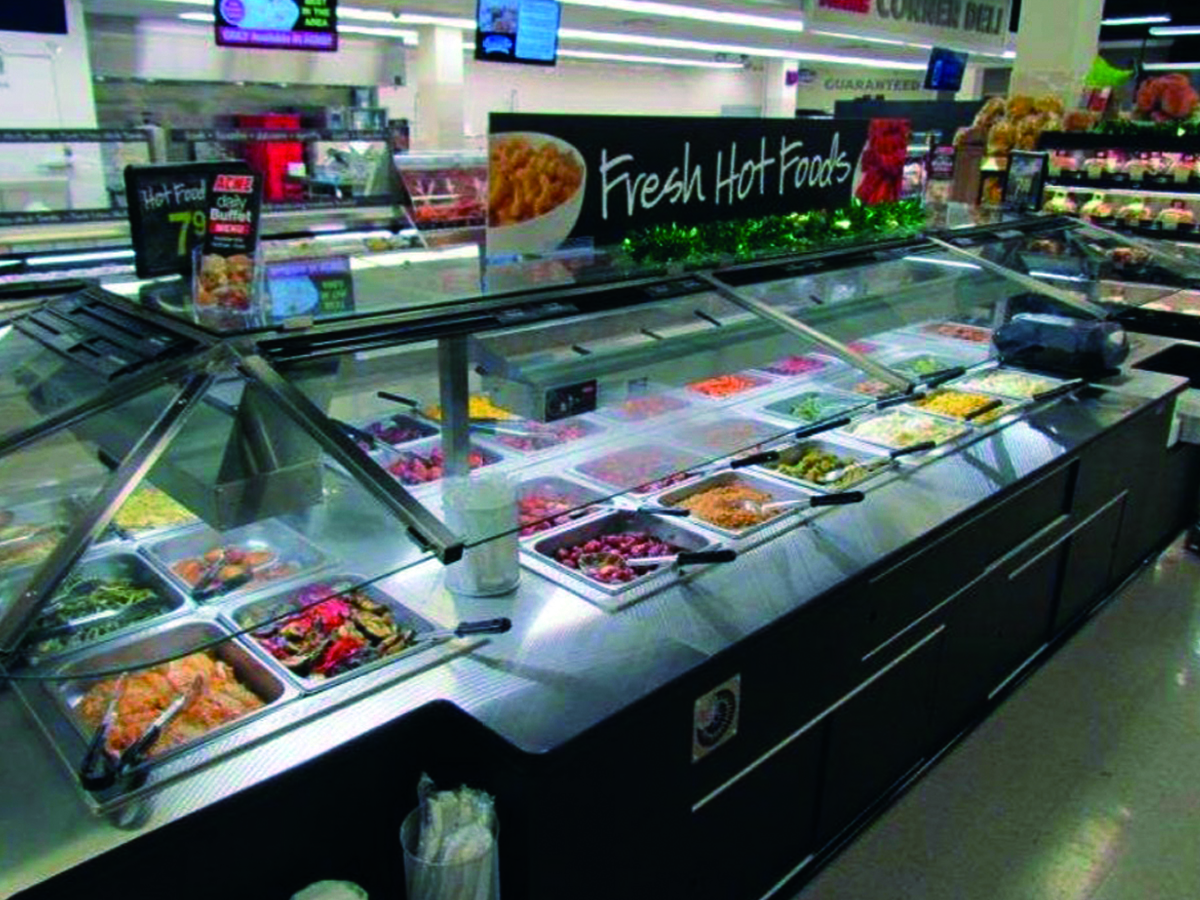 Acme style deluxe quality built remodel in aubudon for Hot food bar 3 divisions