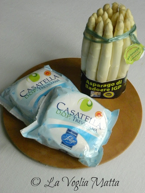 Casatella Trevigiana DOP e Asparagi bianchi di Badoere IGP