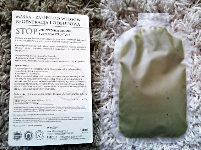 Czyste Piękno - Maska do włosów - Regeneracja i dobudowa, opis opakowania