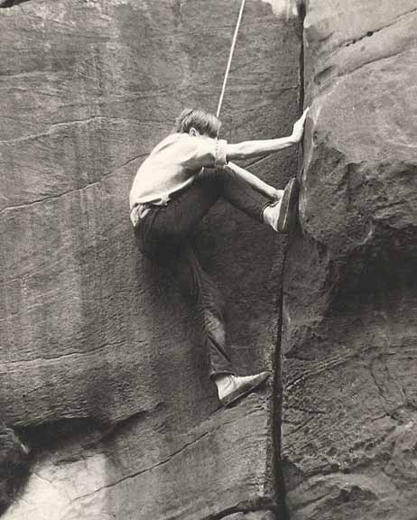 Rusty Westmorland climbing