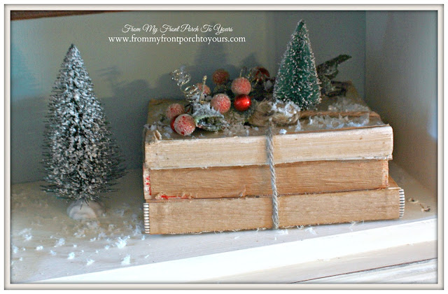 Deconstructed Books-Vintage Christmas- Farmhouse Christmas-A Merry little Christmas- From My Front Porch To Yours