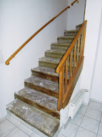 Steintreppe vor der Renovierung - Belag entfernt