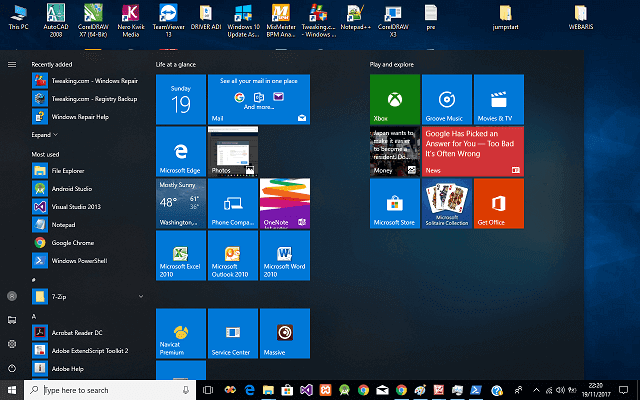 Windows 10 Start Menu Cannot Be Clicked