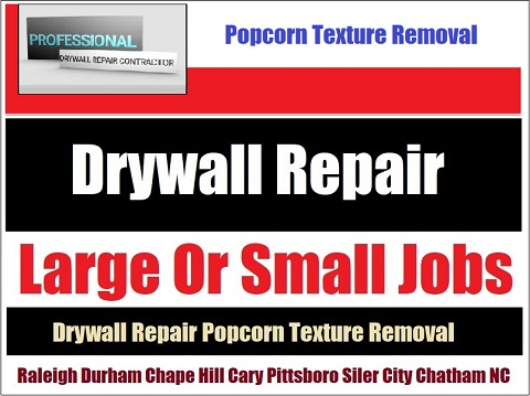 919-742-2030 Wall Ceiling Repair Texture Removal Cary NC