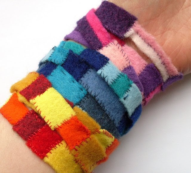 Bugs And Fishes By Lupin: How To: Felt Scrap Bracelets
