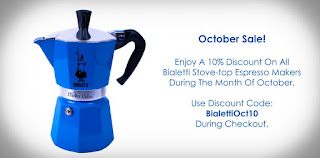 Bialetti October Sale at coffeeinitalia.com