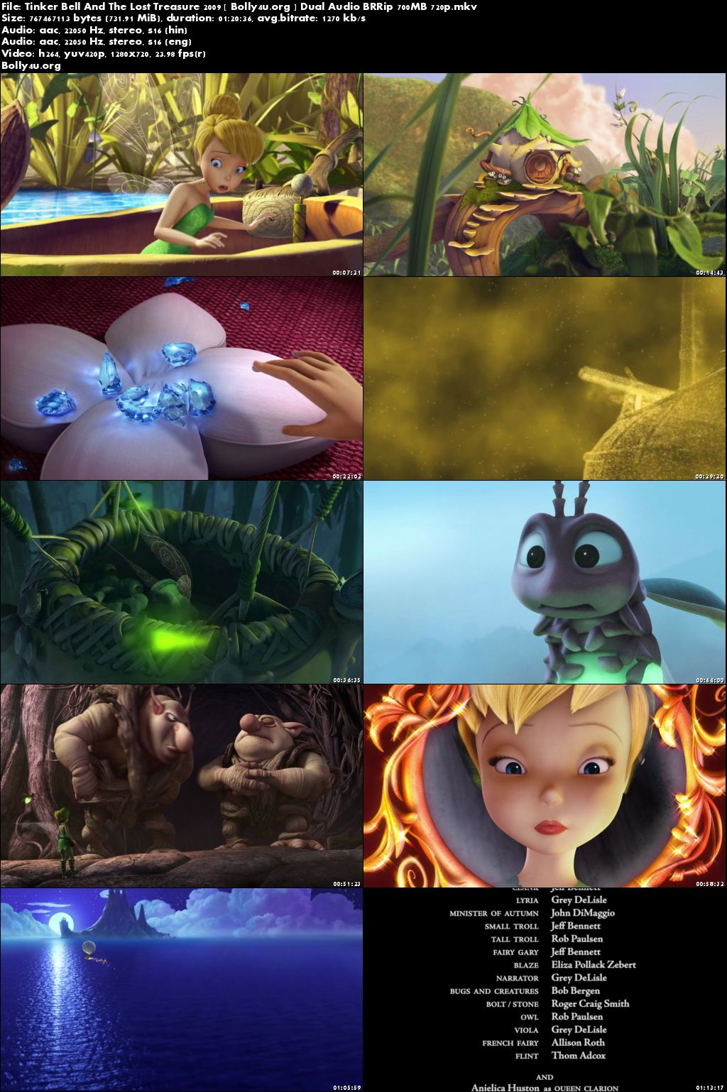 Tinker Bell And The Lost Treasure 2009 BRRip Hindi Dual Audio 700MB Download