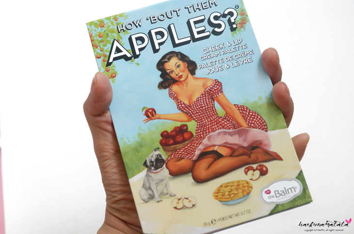 TheBalm How 'Bout Them Apples? Cheek & Lip Cream Palette Review, Lip Swatches, MOTD