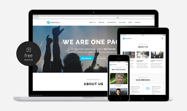 OnePress - WP Template Responsive