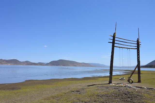 Balançoire dans les plaines autour du lac Napa