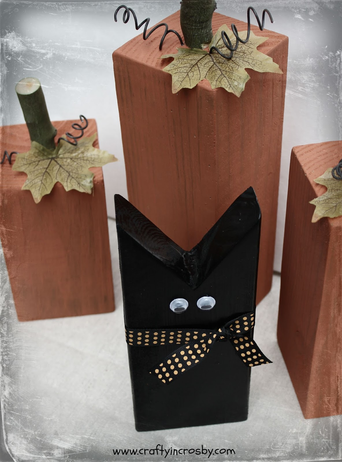 Black Cat Decorations Crafty In Crosby Fun Fall Pumpkins And A Sweet Black Cat