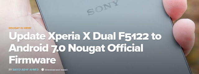 Update Xperia X Dual F5122 to Android 7.0 Nougat