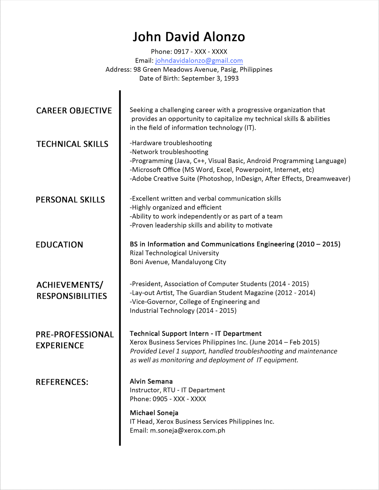 importance of good resume template to get your dream job dadakan