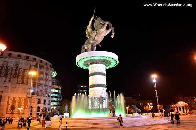 Alexander the Great monument in Skopje, Macedonia