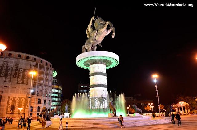 Alexander the Great monument in Skopje, Macedonia