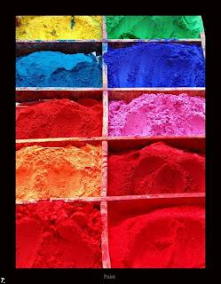 Pigmento colores del arco iris