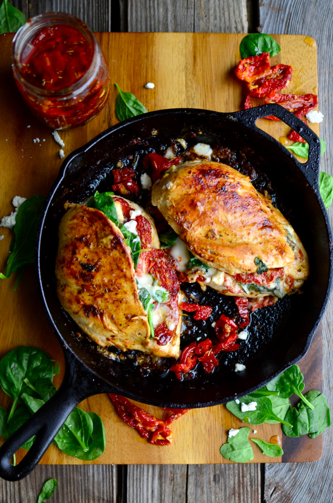 Yammie S Noshery Sundried Tomato Spinach And Cheese Stuffed Chicken