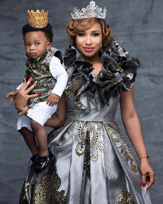 Tonto Dikeh (@TONTOLET) and her son stun in new photos to celebrate his first birthday