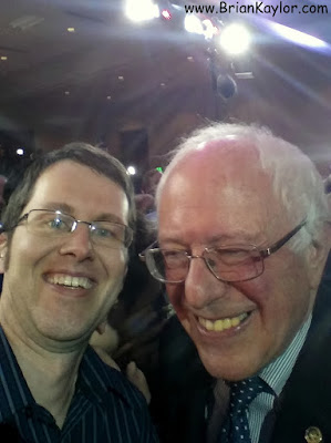 Taking a Selfie with Bernie & Photobombing Jeb!