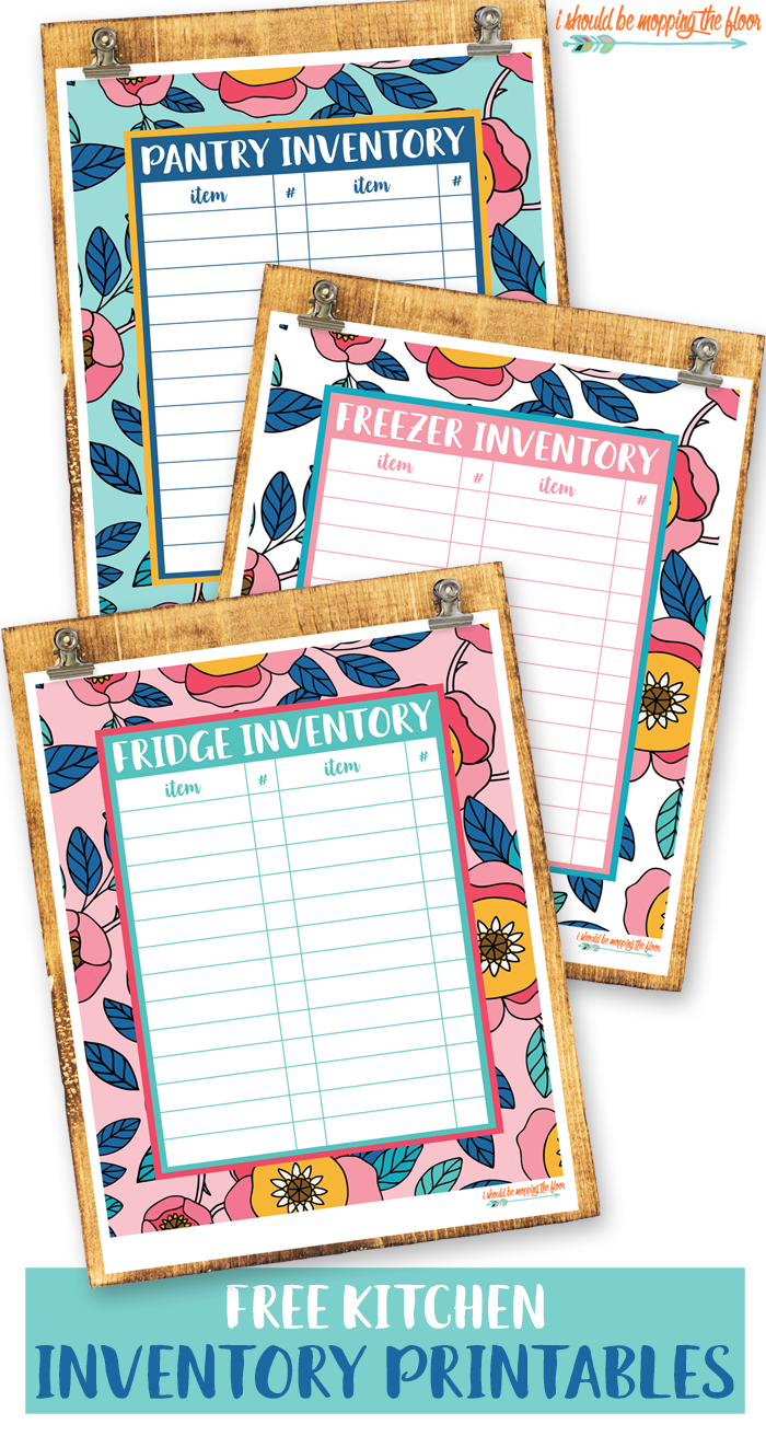 Free Kitchen Printables: these inventory prints are perfect to keep track of everything in your kitchen.