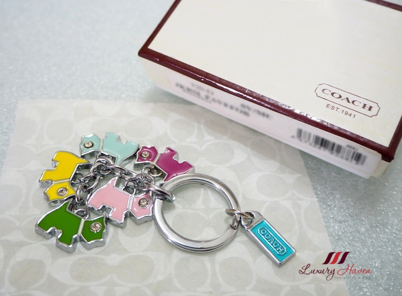 coach enamel bag charms key ring giveaway