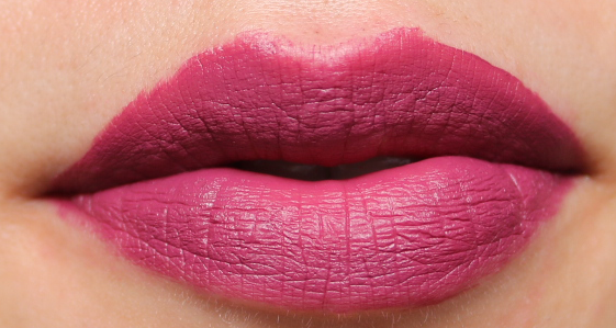B. Matte Liquid Lip in Ravenous swatches