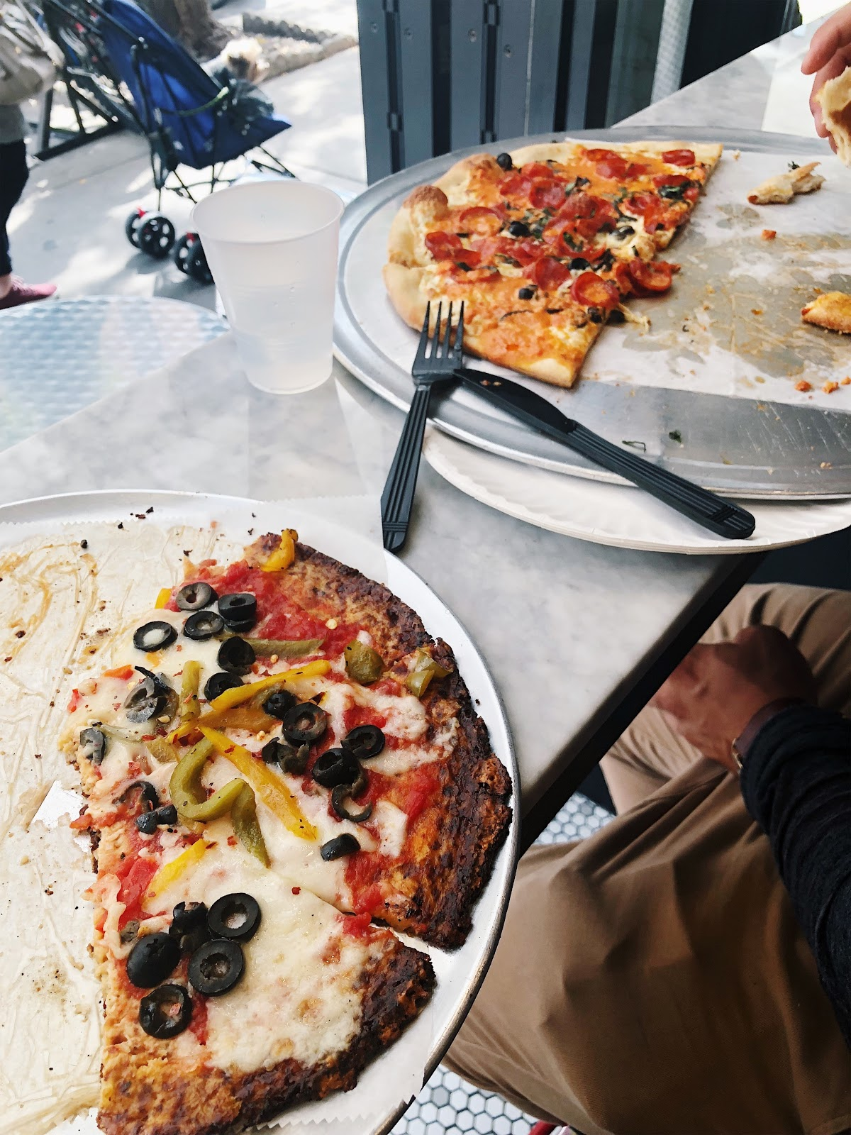 How To Travel with Foodies, Marinara Pizza NYC, best cauliflower crust pizza in NYC