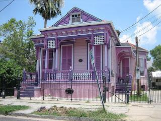 Contoh Cat Depan Rumah Sweet Purple