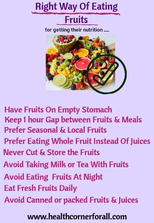 Right Way Of Eating Fruits