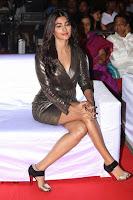 Pooja Hegde looks glamarous in deep neck sleevless short tight golden gown at Duvvada Jagannadham thank you meet function 056.JPG