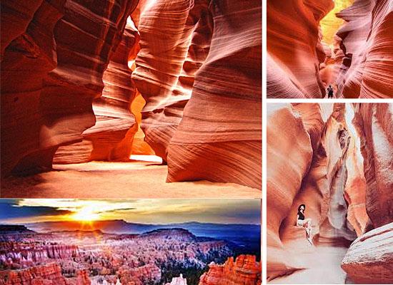 Cavernas mais lindas perigosas - Antelope Canyon - EUA