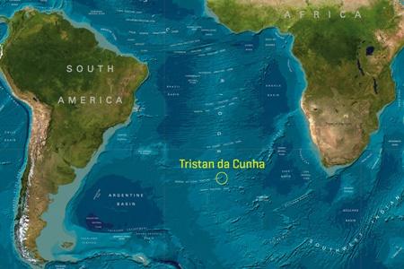 Tristan da Cunha Adaları Haritada Neresi