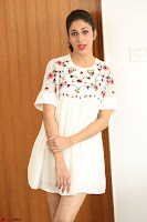 Lavanya Tripathi in Summer Style Spicy Short White Dress at her Interview  Exclusive 171.JPG