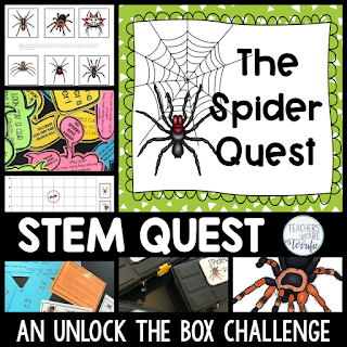 STEM Design combined with an Unlock the Box Event! This one features spiders!